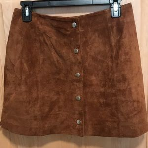 Urban Outfitters brown suede skirt